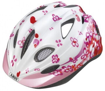 ABUS Kinder Fahrradhelm Chilly, Pink, 52-57 cm, 43366 - 1