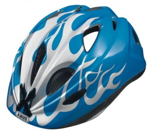 ABUS Kinder Fahrradhelm Super Chilly, X-flame blue, 52-57 cm, 51991-8 - 1