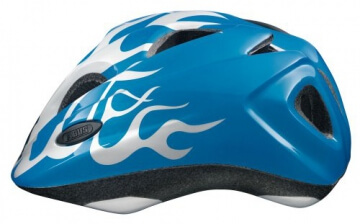 ABUS Kinder Fahrradhelm Super Chilly, X-flame blue, 52-57 cm, 51991-8 - 2