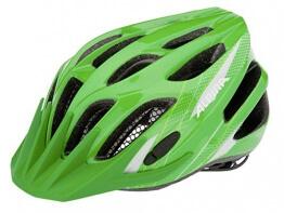 ALPINA Jungen Fahrradhelm FB Jr. 2.0, Green/White, 50-55 cm, 9678171 - 1