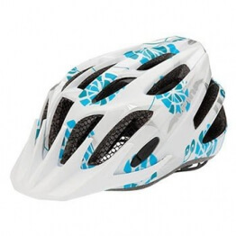 ALPINA Kinder Fahrradhelm FB Junior 2.0, White/Cyan/Silver, 50-55 cm, 9678117 - 1