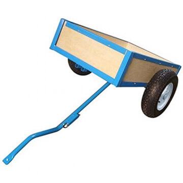 Anhänger für Go Kart Gokart Tretauto blau 81 x 73 x 34 cm - 2