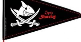 "Bike Fashion  GmbH 865153-Fahrradwimpel ""Capt'n Sharky"" - 1"