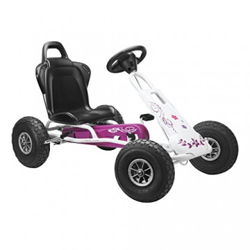 Ferbedo 005717 - Go-Kart Air Runner, weiß/rosa - 1