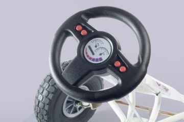 Ferbedo 005717 - Go-Kart Air Runner, weiß/rosa - 2