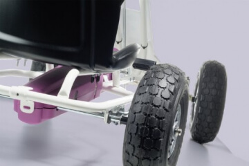 Ferbedo 005717 - Go-Kart Air Runner, weiß/rosa - 3