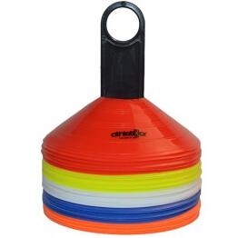 Markierungshütchen 50'er SET, gelb, weiß, blau, rot, orange von athletiKor ® - 1