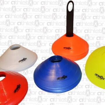Markierungshütchen 50'er SET, gelb, weiß, blau, rot, orange von athletiKor ® - 2
