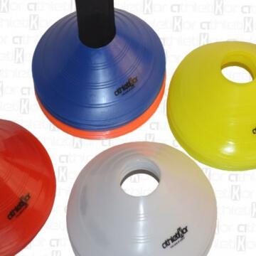 Markierungshütchen 50'er SET, gelb, weiß, blau, rot, orange von athletiKor ® - 3
