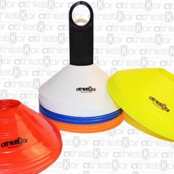 Markierungshütchen 50'er SET, gelb, weiß, blau, rot, orange von athletiKor ® - 4