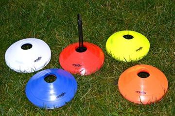 Markierungshütchen 50'er SET, gelb, weiß, blau, rot, orange von athletiKor ® - 5