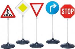 Theo Klein 2980 - verschiedene Verkehrszeichen, 5-teilig - 1