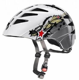 Uvex Kinder Fahrradhelm Junior, Splash Anthracite, 52-57, 4142560215 - 1