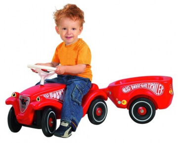 BIG 1300 - Bobby-Car Anhänger, rot - 2
