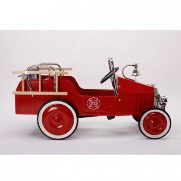 Baghera 1938FE - Tretauto Feuerwehr, aus Metall, 100 x 55 cm, 3-5 Jahre - 5