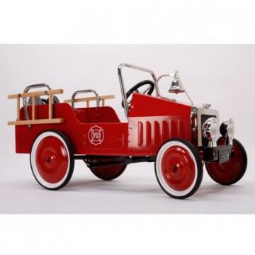 Baghera 1938FE - Tretauto Feuerwehr, aus Metall, 100 x 55 cm, 3-5 Jahre - 6