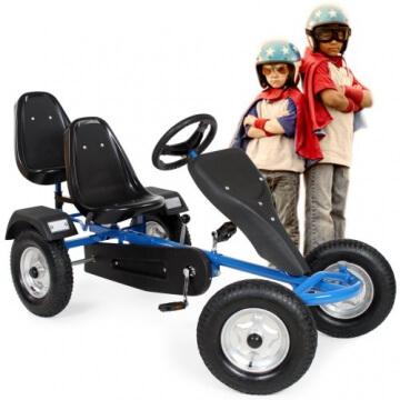 TecTake® Gokart Tretauto Go Kart Tretfahrzeug blau - 2