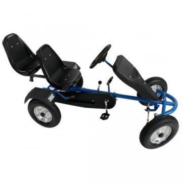 TecTake® Gokart Tretauto Go Kart Tretfahrzeug blau - 3