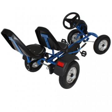TecTake® Gokart Tretauto Go Kart Tretfahrzeug blau - 4