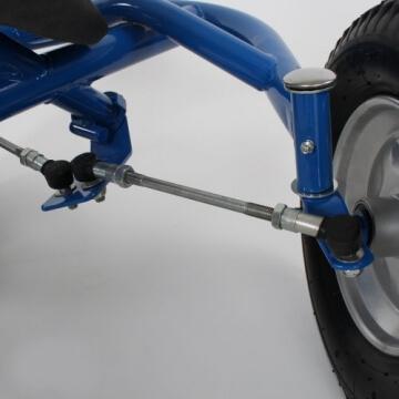 TecTake® Gokart Tretauto Go Kart Tretfahrzeug blau - 5