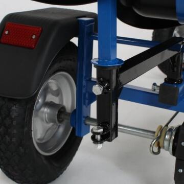 TecTake® Gokart Tretauto Go Kart Tretfahrzeug blau - 6